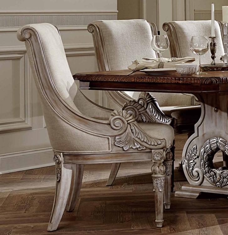 Orleans II Arm Chair - White Wash