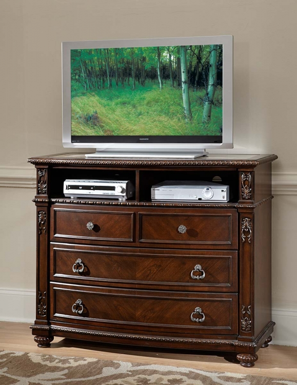 Hillcrest Manor TV Chest - Cherry - Homelegance