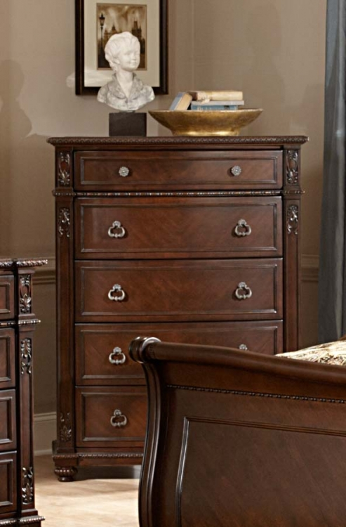 Hillcrest Manor Chest - Cherry - Homelegance