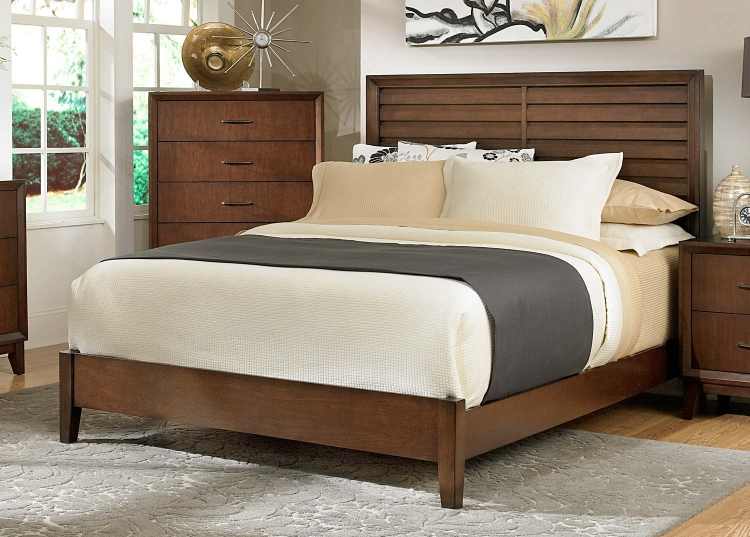 Oliver Bed - Warm Brown Cherry