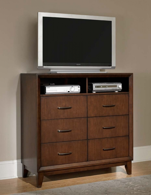 Oliver TV Chest - Warm Brown Cherry