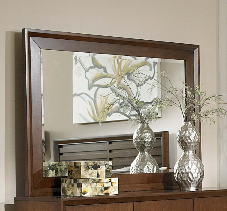 Oliver Mirror - Warm Brown Cherry - Homelegance