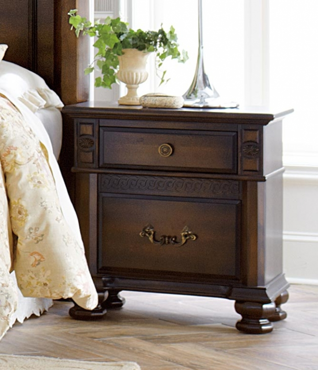 Chantilly Glen Night Stand - Dark Cherry