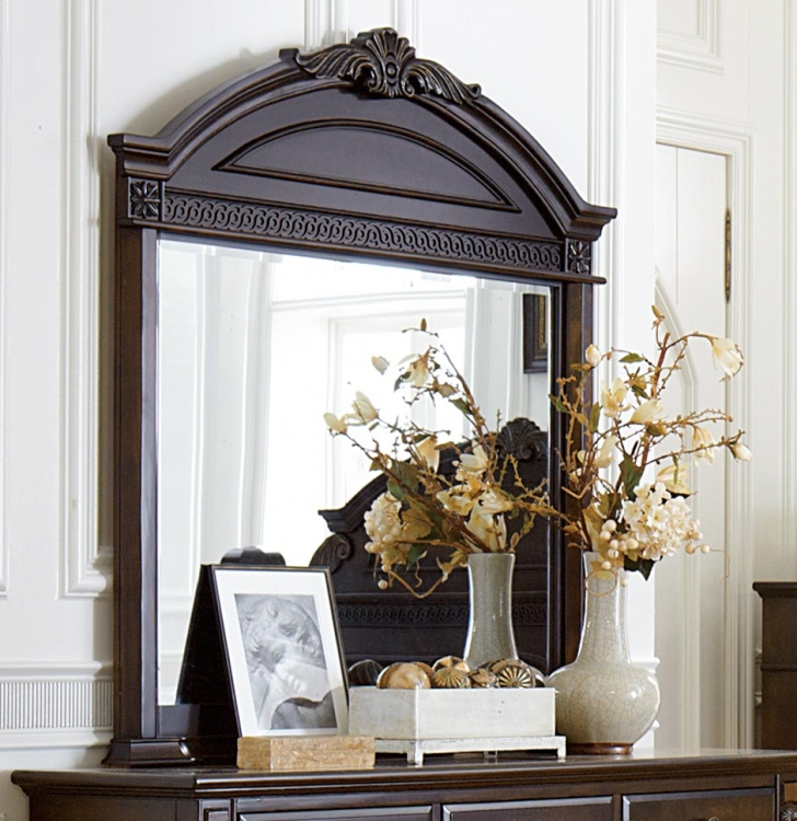 Chantilly Glen Mirror - Dark Cherry