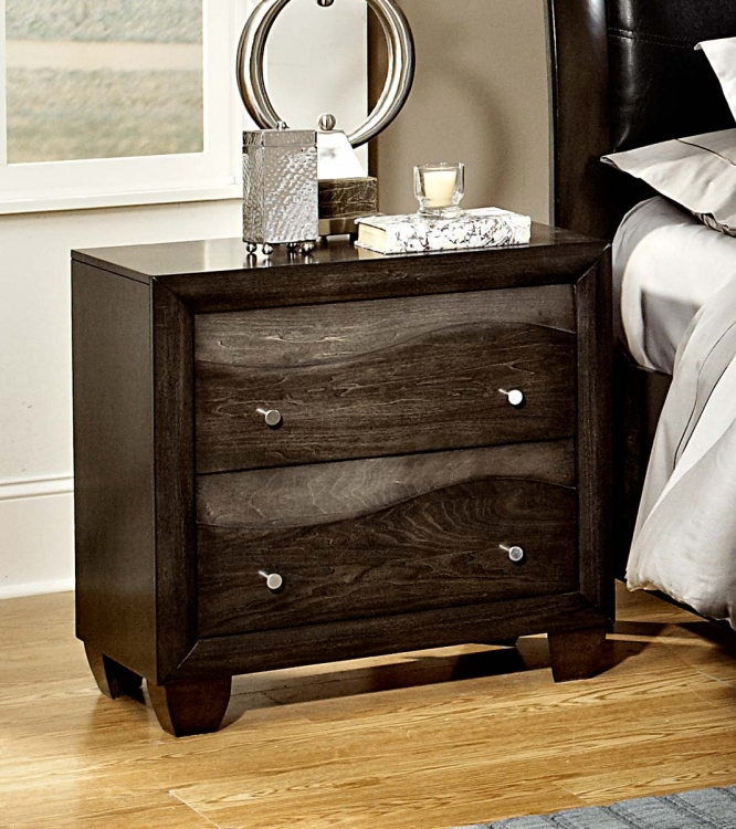 Redondo Night Stand - Grey-toned Brown