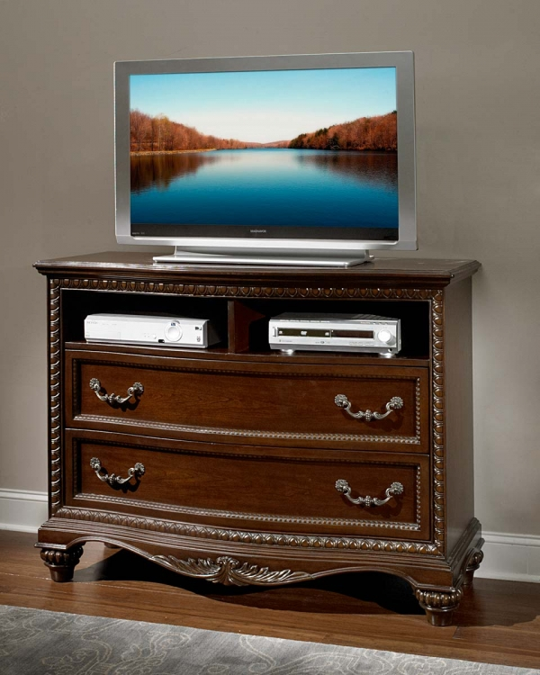 Hampstead Court TV Chest - Cherry - Homelegance