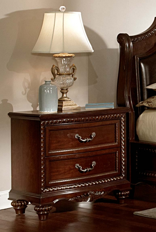 Hampstead Court Night Stand - Cherry - Homelegance