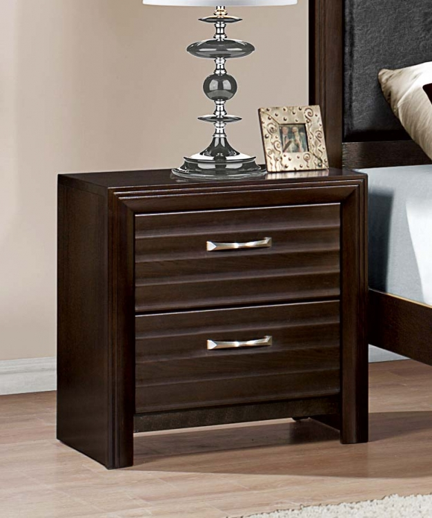 Hilton Night Stand - Espresso�
