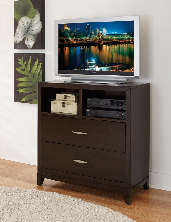 Starling TV Chest - Dark Cherry