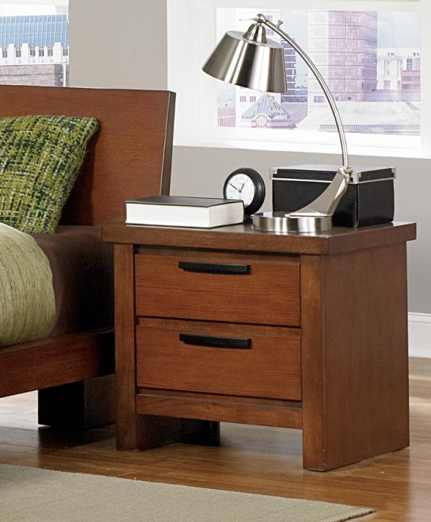 Kobe Night Stand - Dark Oak