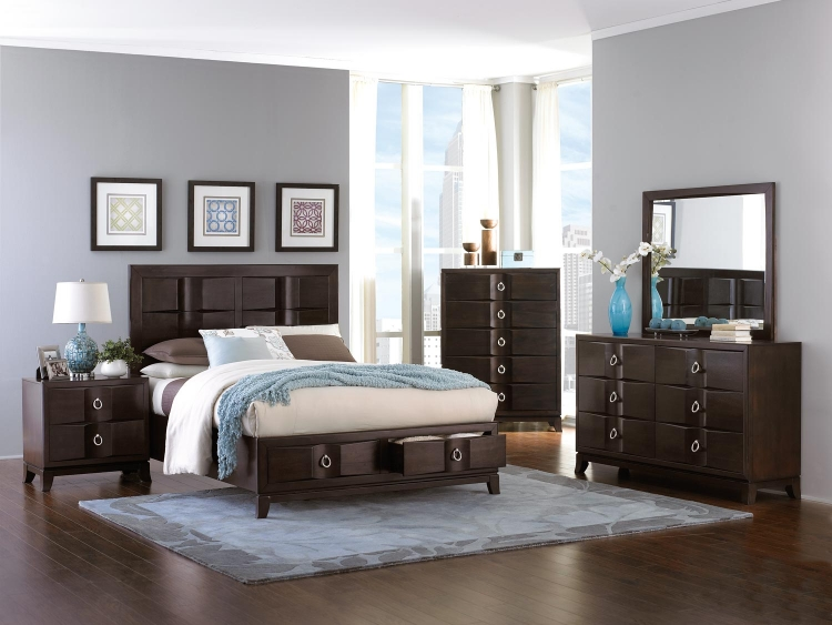 Edmonston Platform Storage Bed Collection - Espresso
