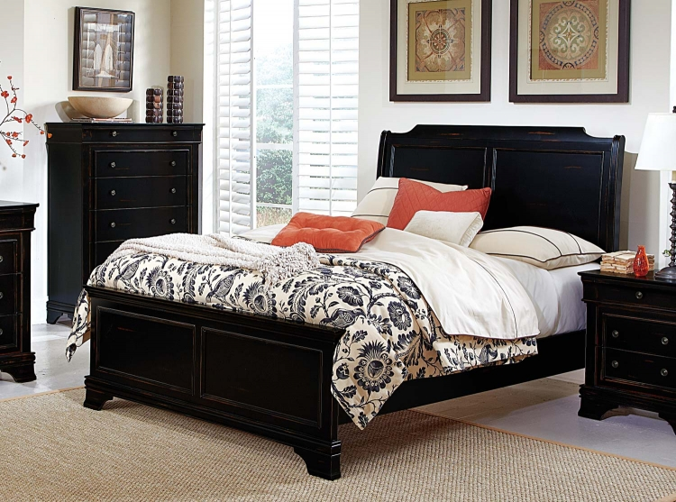 Derby Run Bed - Black Sand-through