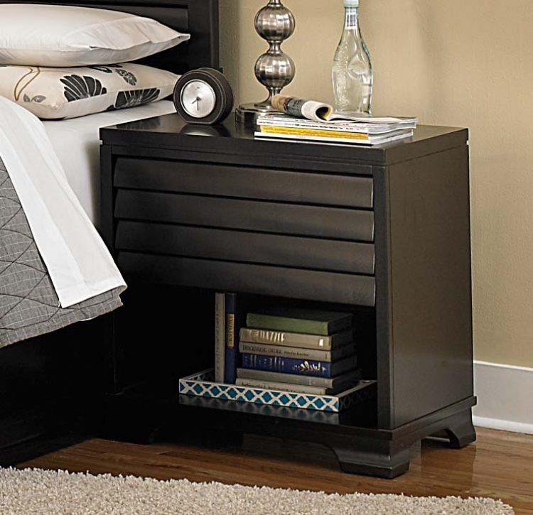 Curran Night Stand - Dark Cherry