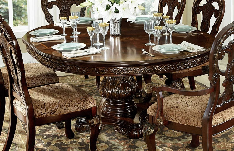 Deryn Park Round Pedestal Dining Table - Cherry