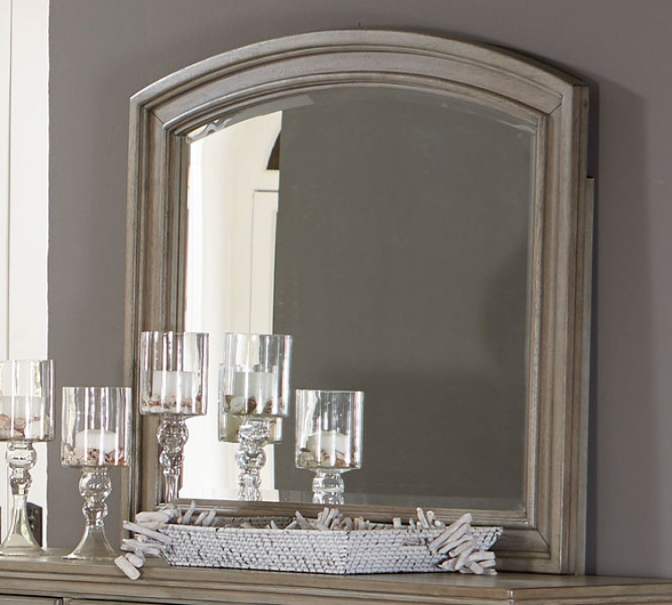 Bethel Mirror - Wire-brushed Gray