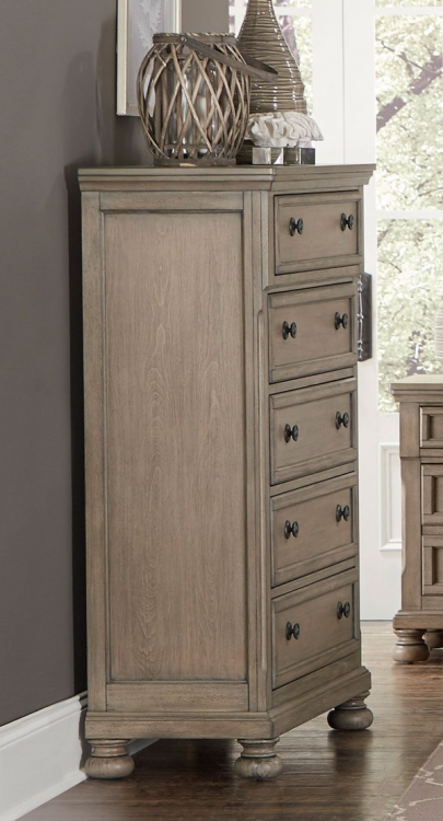 Bethel Chest - Wire-brushed Gray