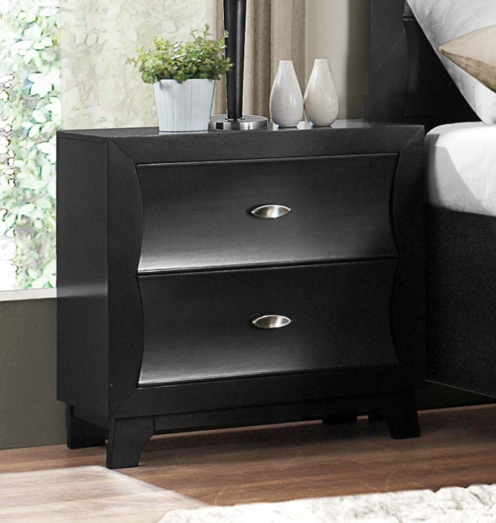 Zandra Night Stand - Pearl Black