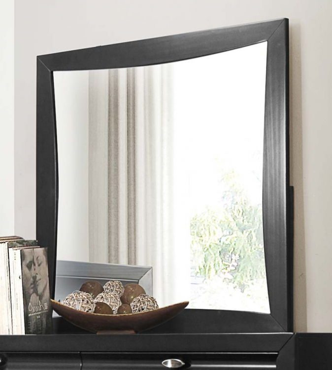 Zandra Mirror - Pearl Black
