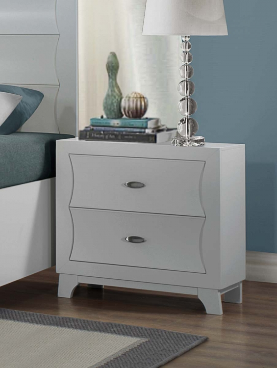 Zandra Night Stand - White