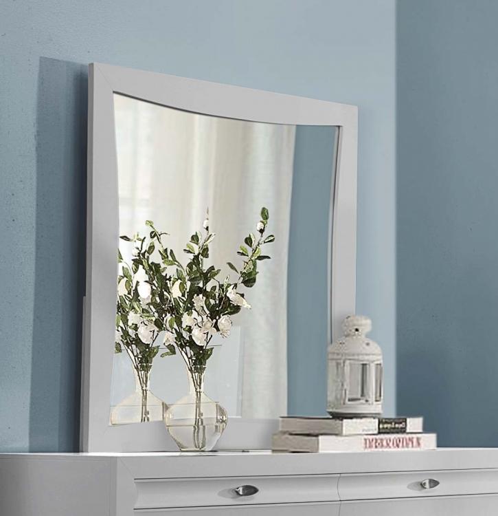 Zandra Mirror - White