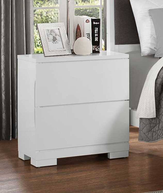Galva Night Stand - Bright White
