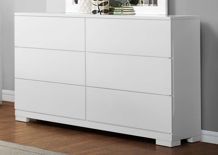 Galva Dresser - Bright White