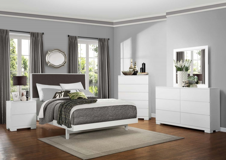 Galva Upholstered Bedroom Collection - Bright White