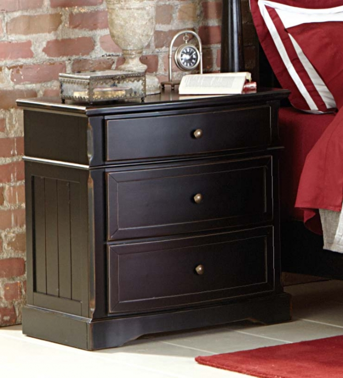 Carollen Night Stand - Black Sand-through