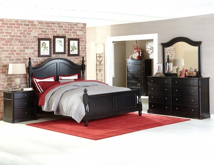 Carollen Bedroom Set - Black Sand-through