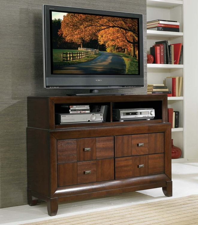 Carrie Ann TV Chest - Parquet Cherry