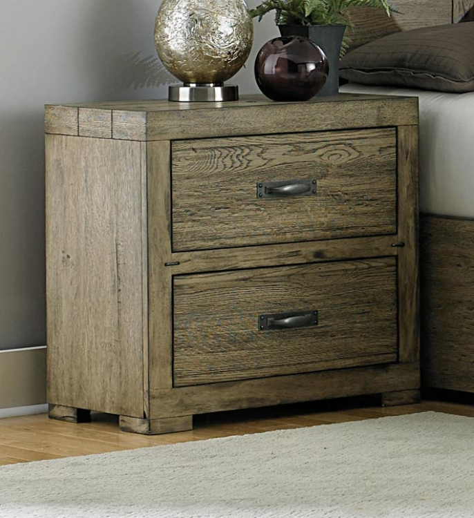 Abbott Night Stand - Driftwood