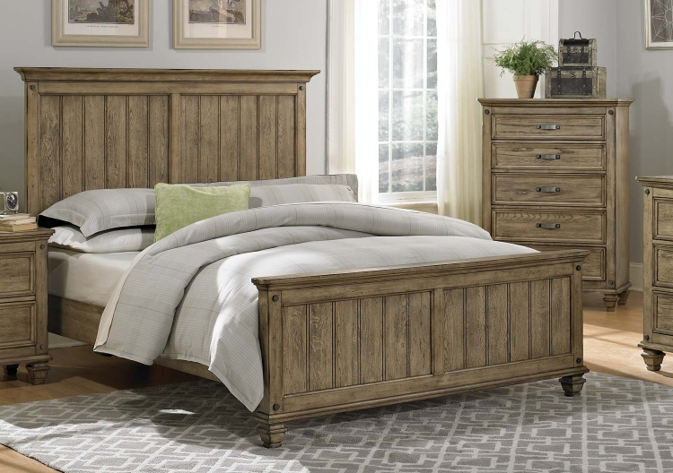 Homelegance Sylvania Platform Bed - Driftwood 2298SL-1 at