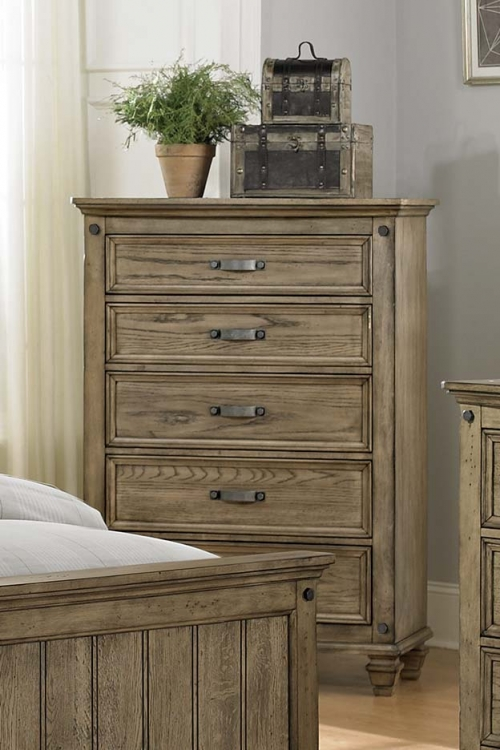Sylvania Chest - Driftwood Oak
