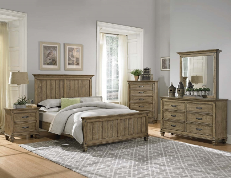 Sylvania Bedroom Set - Driftwood Oak