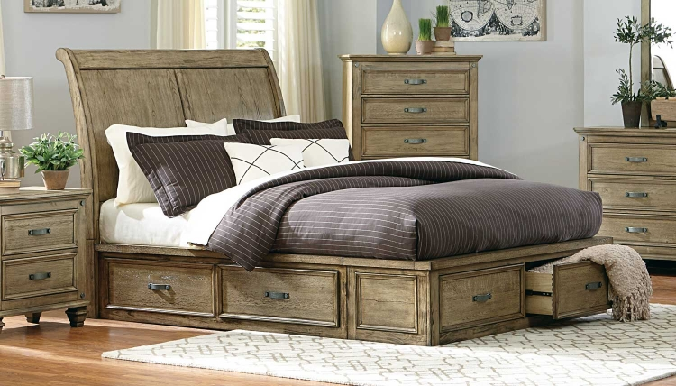 Homelegance Sylvania Bedroom Set Driftwood Oak 2298 Bed Set At