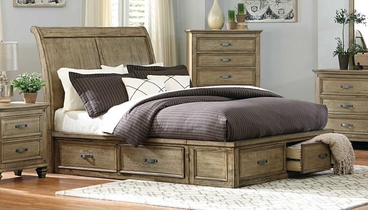 Sylvania Platform Bed - Driftwood