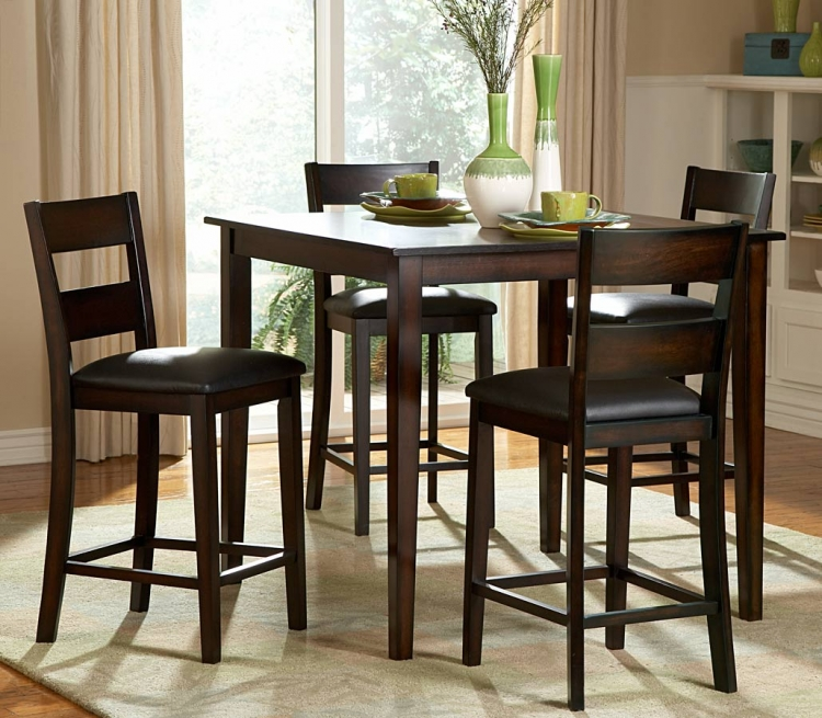 Griffin 5-Piece Counter Height Dining Set - Homelegance