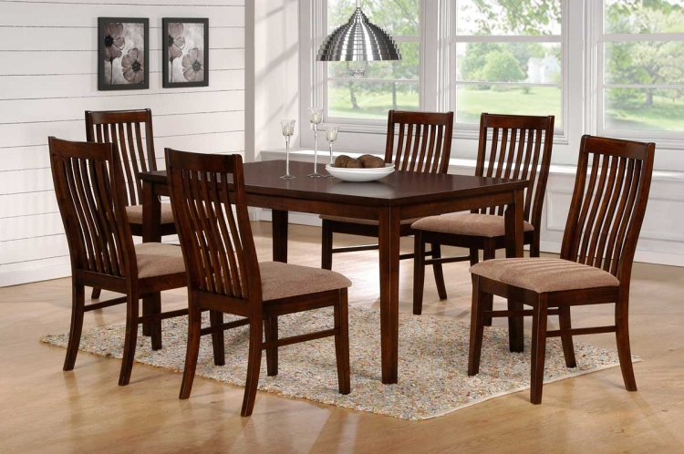 Hale Dining Set D - Walnut - Homelegance