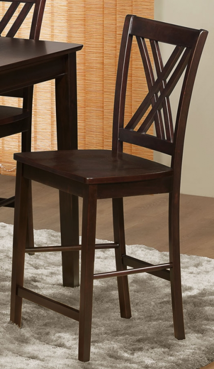 Hodges Counter Height Chair - X Back - Homelegance