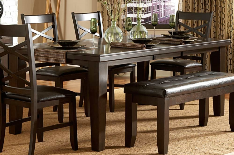 Hawn Dining Table - Walnut Veneer - Homelegance