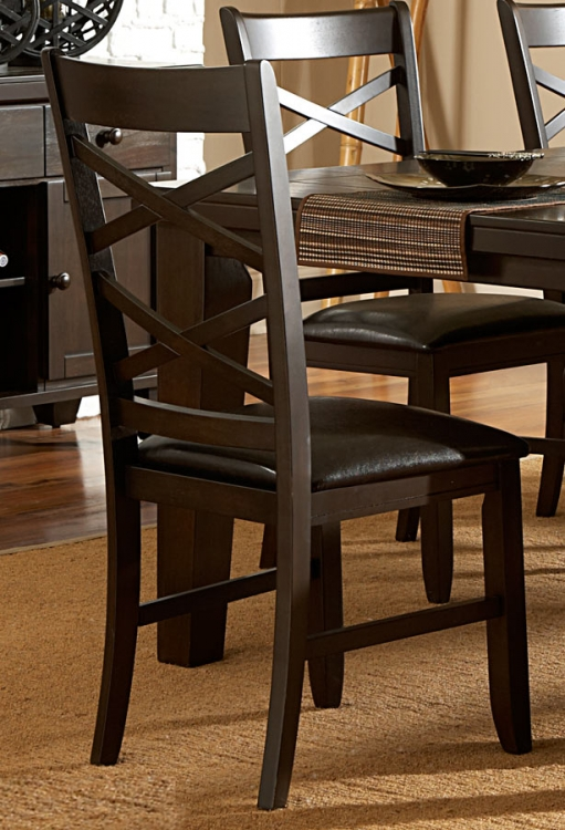 Hawn Side Chair - Dark Brown Leatherette