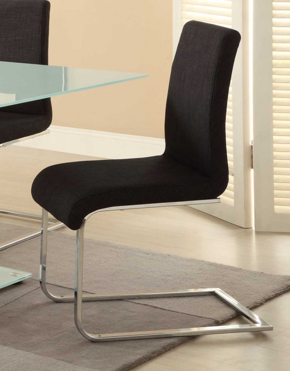 Knox Side Chair - Charcoal Fabric