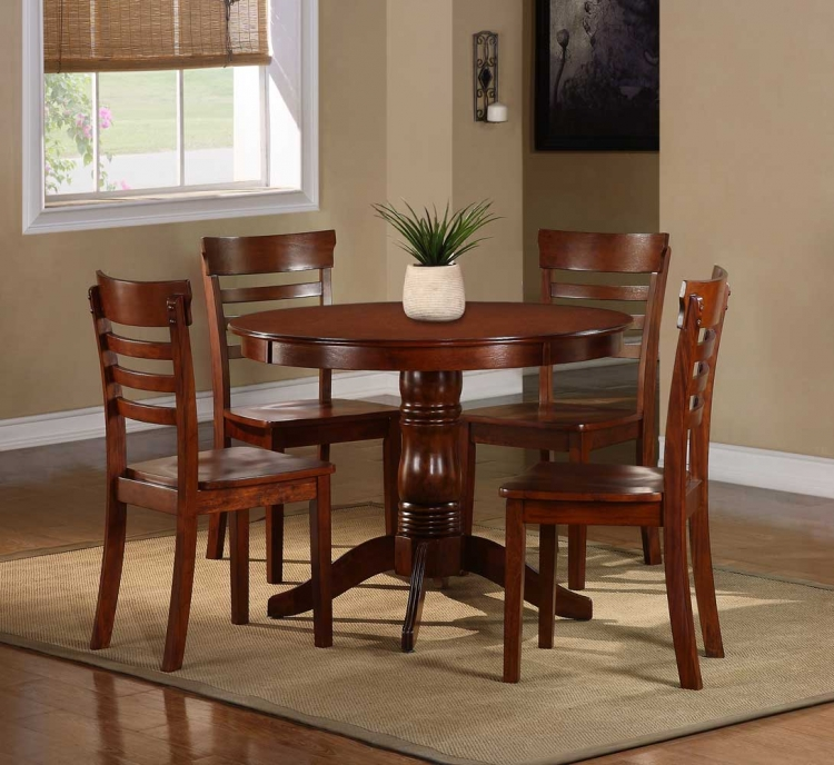 Wayland 5-Piece Dining Set - Antique Oak