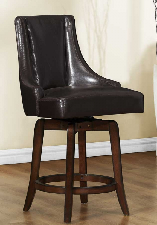 Annabelle Swivel Counter Height Chair - Brown - Homelegance