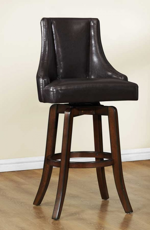 Annabelle Swivel Pub Height Chair - Brown - Homelegance