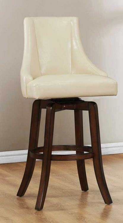 Annabelle Swivel Pub Height Chair - Cream - Homelegance