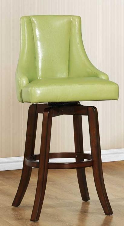 Annabelle Swivel Pub Height Chair - Green