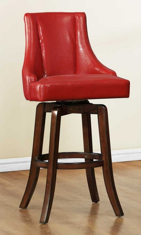 Annabelle Swivel Pub Height Chair - Red - Homelegance