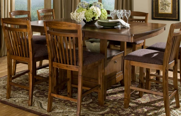 Homelegance Savion Round Oval Dining Table With Leaf