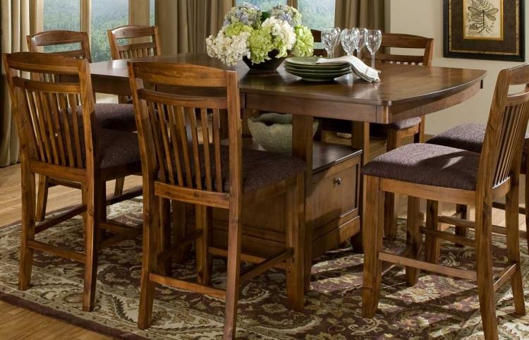 Marcel Counter Height Table - Warm Oak